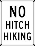 No Hitch Hiking