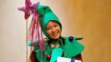 Be dressed up like a Christmas tree