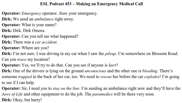Making an Emergency Medical Call