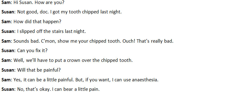 Надколотый зуб