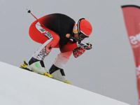 Скоростной спуск на лыжах
