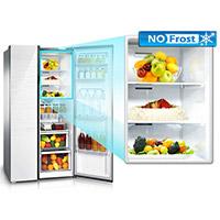 a no frost – холодильник со специальной системой, предотвращающей образование льда и инея на стенках морозильной камеры